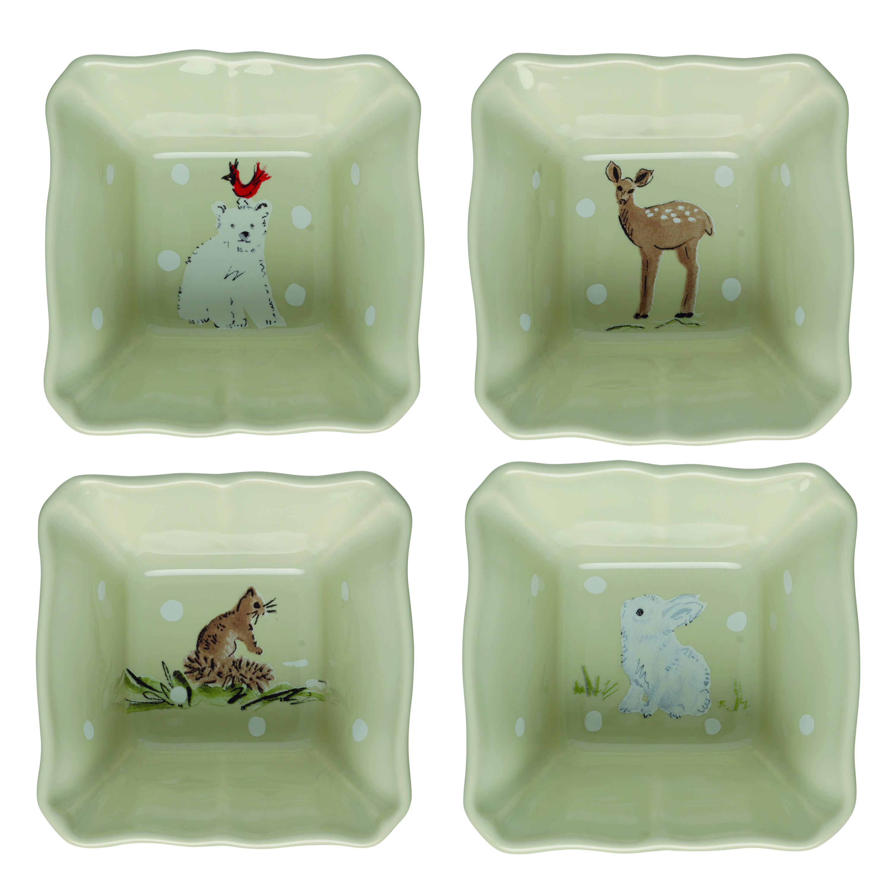 Deer Friends Linen Set 4 Ramekins 9.9cm X1 Sparkle Gift