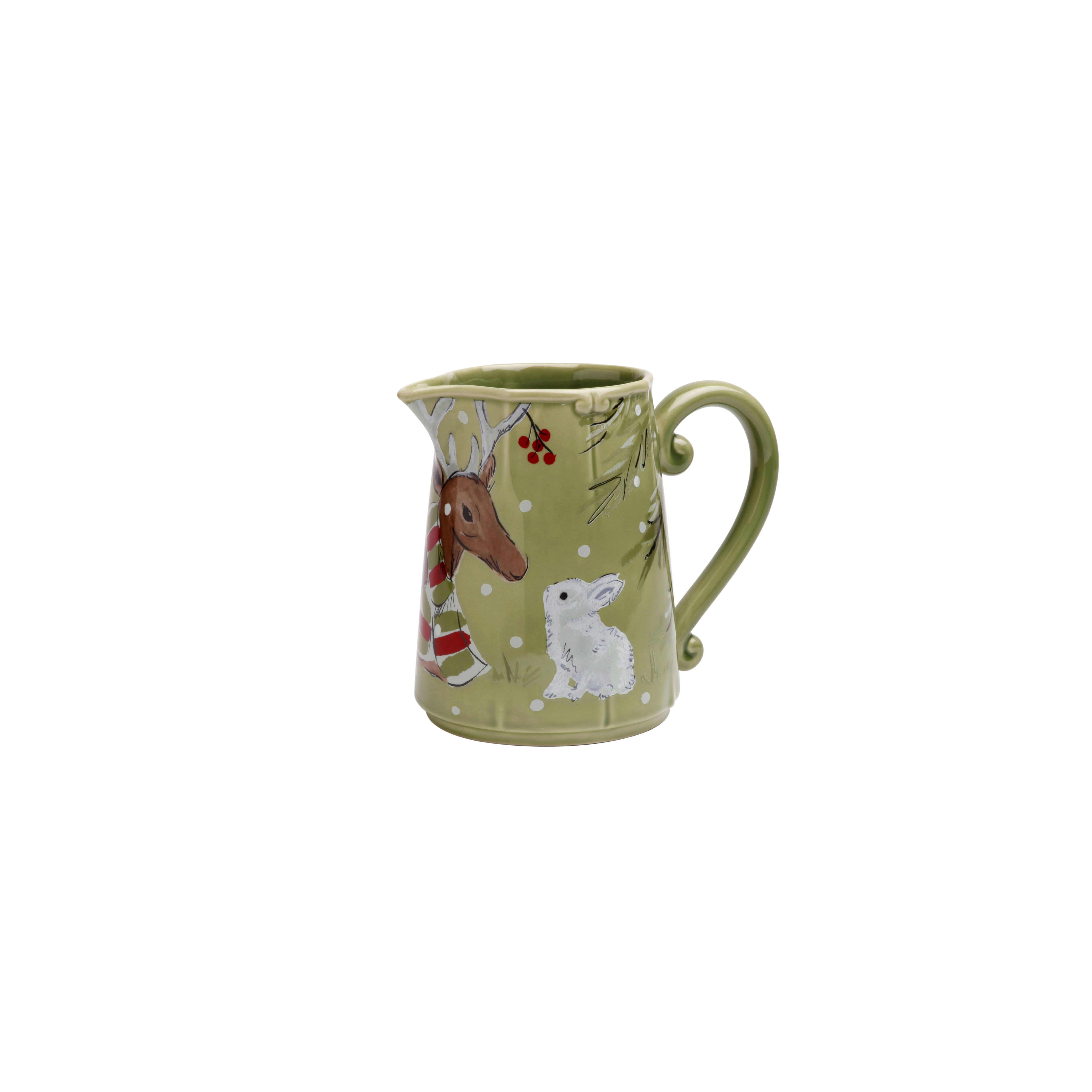 Deer Friends Green Pitcher 1.87l X1 Sparkle Gift