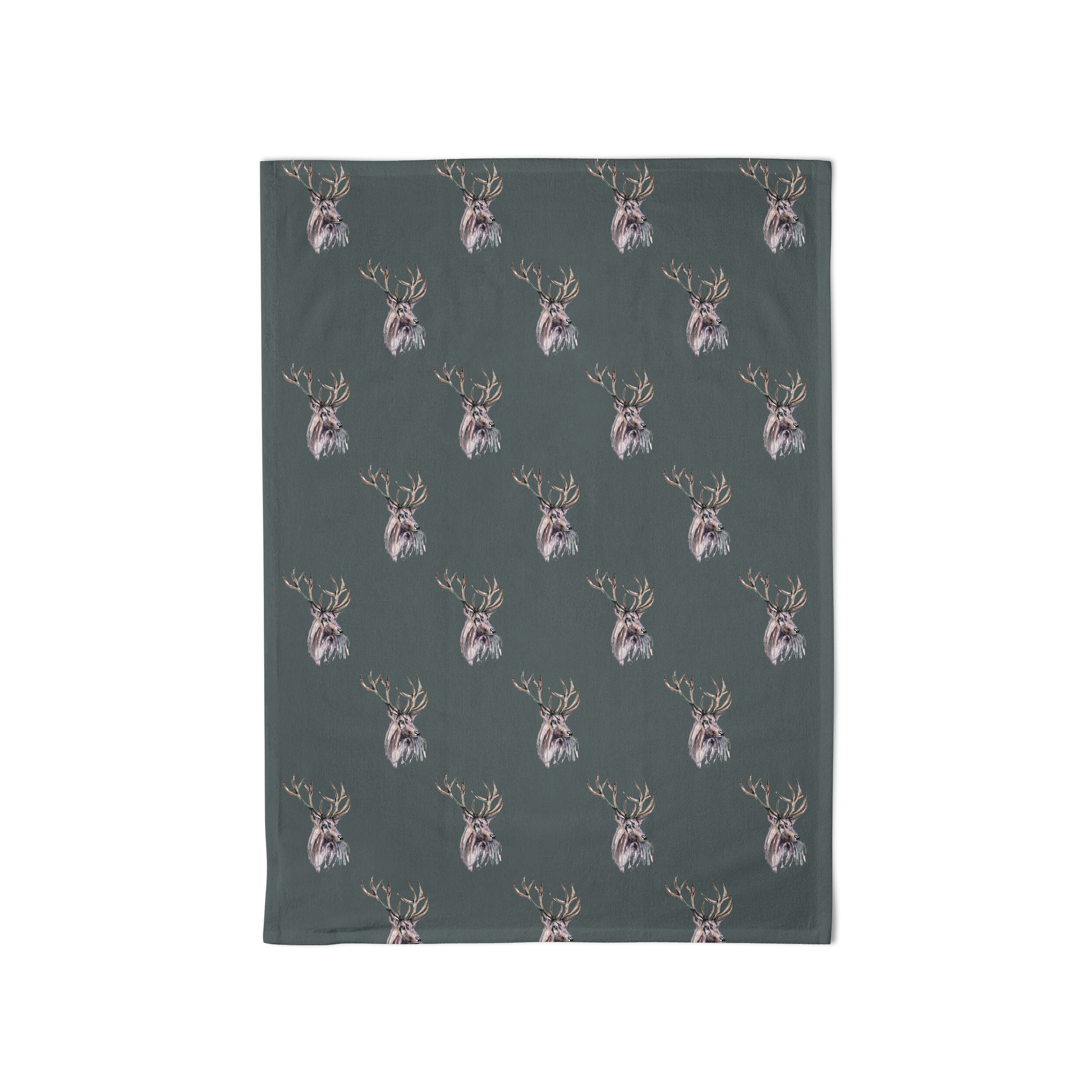 Meg Hawkins Tea Towel Stag Dark Grey Sparkle Gift