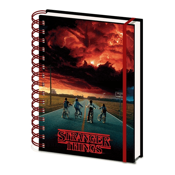Stranger Things A5 Notebook 3d Mind Flayer Sparkle Gift