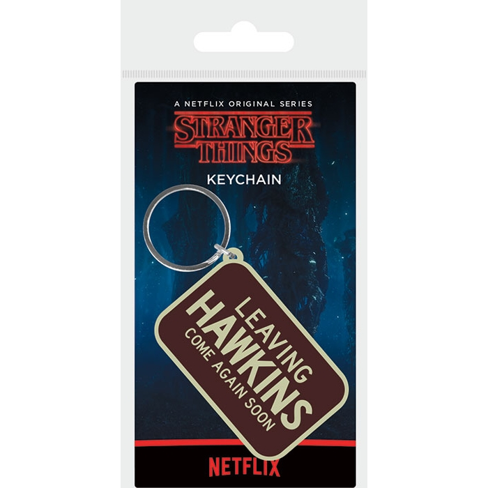 Stranger Things Keyring Leaving Hawkins Sparkle Gift