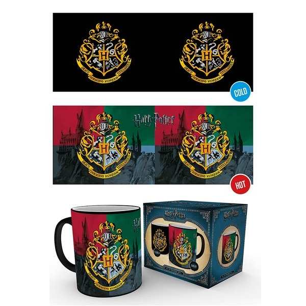 Harry Potter Heat Change Mug Hogwarts Crest Sparkle Gift