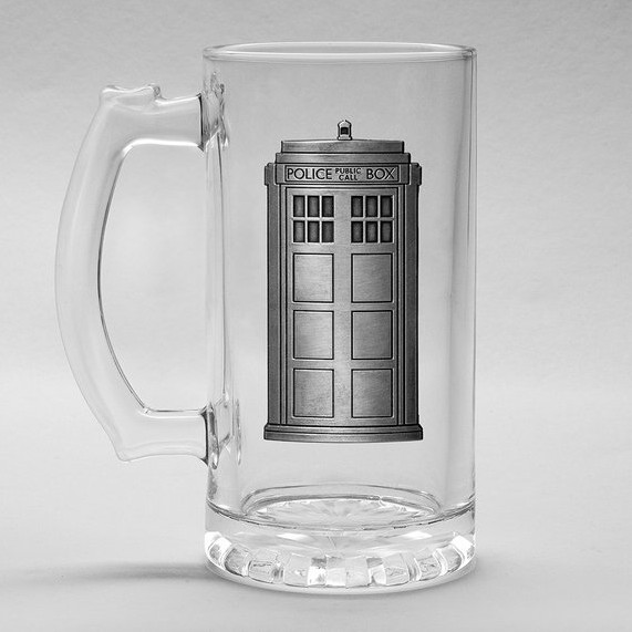 Doctor Who Boxed Glass Stein Tardis Sparkle Gift
