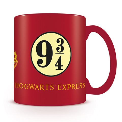 Harry Potter Boxed Mug Platform 9 & 3/4 Red Sparkle Gift