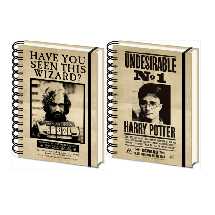 Harry Potter A5 Notebook 3d Sirius & Harry Sparkle Gift