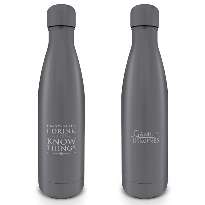 Game of Thrones Metal Bottle I Drink & I Know Things Sparkle Gift