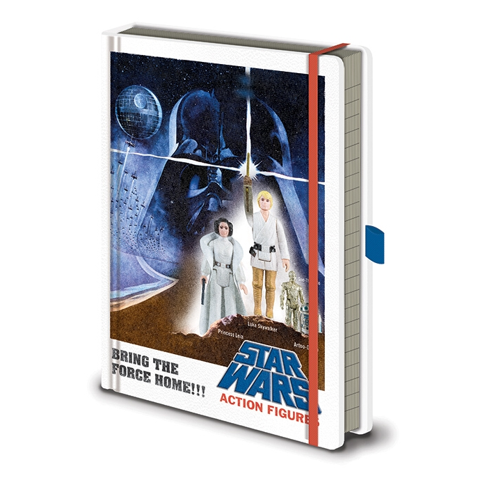 Star Wars Premium A5 Notebook Action Figures Sparkle Gift