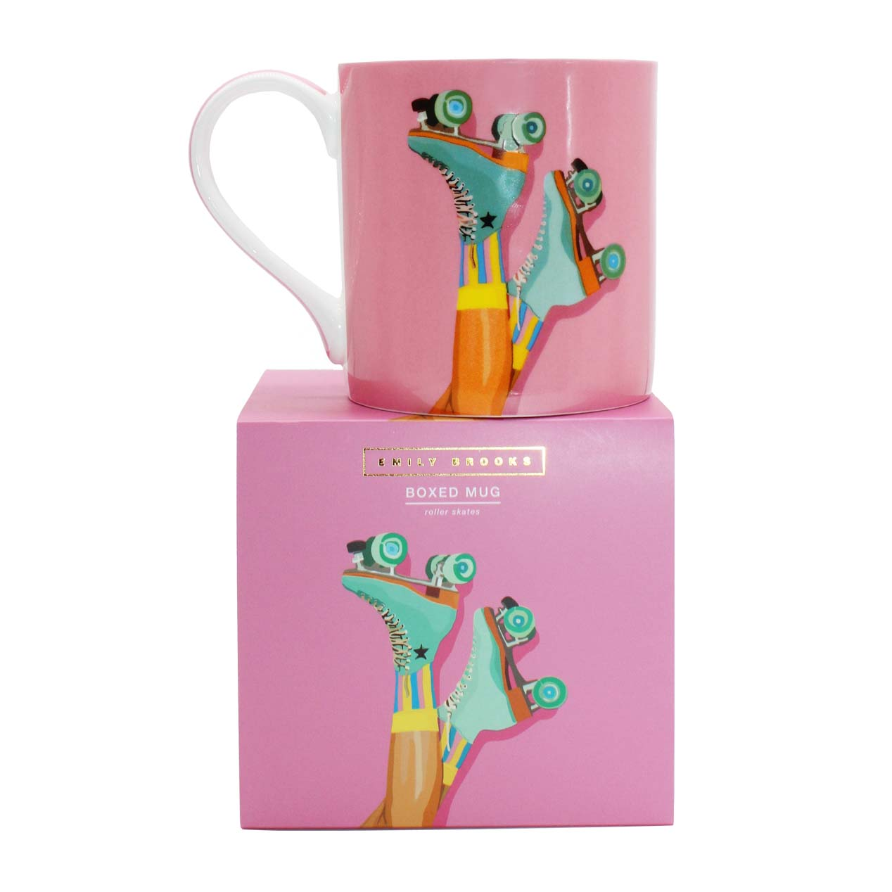 Emily Brooks Boxed Mug Skates Sparkle Gift