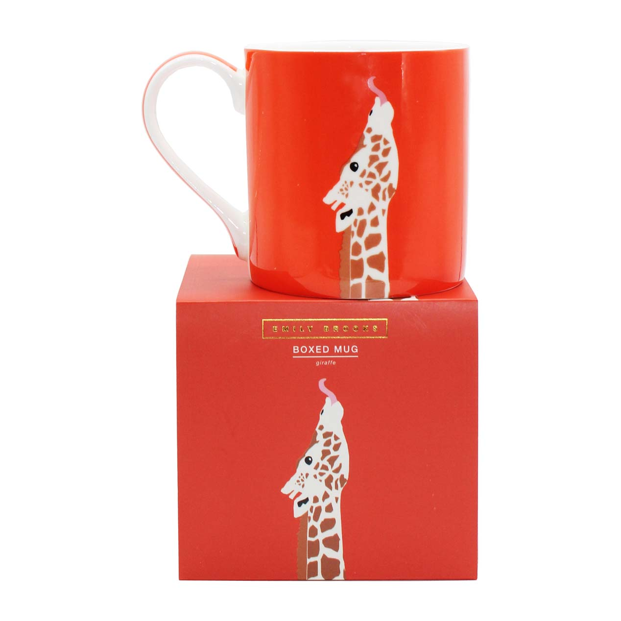 Emily Brooks Boxed Mug Giraffe Sparkle Gift