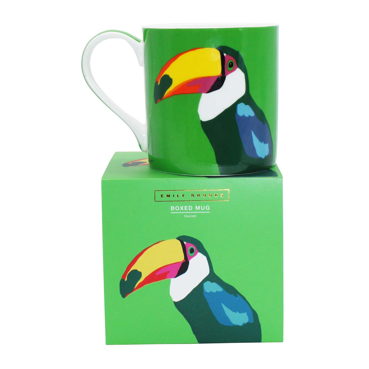 Emily Brooks Boxed Mug Toucan Sparkle Gift