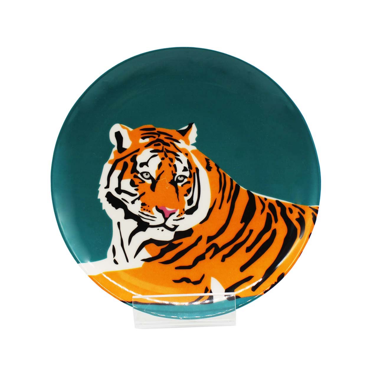 Emily Brooks Plate 21cm Tiger Sparkle Gift
