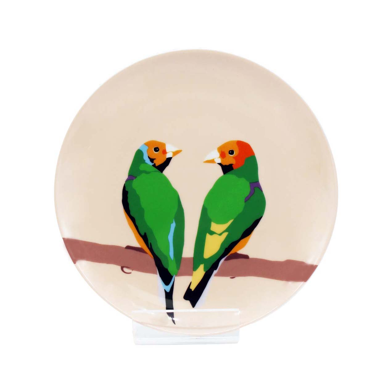 Emily Brooks Plate 21cm Love Birds Sparkle Gift