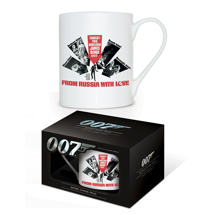 James Bond Boxed Mug Bone China From Russia... Sparkle Gift