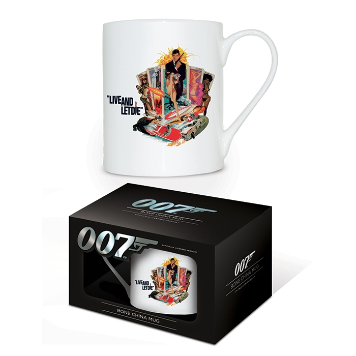 James Bond Boxed Mug Bone China Live and Let Die Sparkle Gift