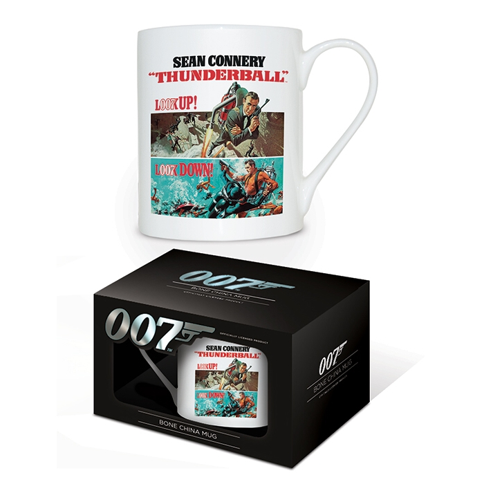 James Bond Boxed Mug Bone China Thunderball                  Sprakle Gifts