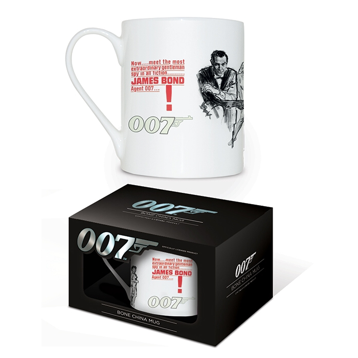 James Bond Boxed Mug Bone China Dr No                        Sprakle Gifts