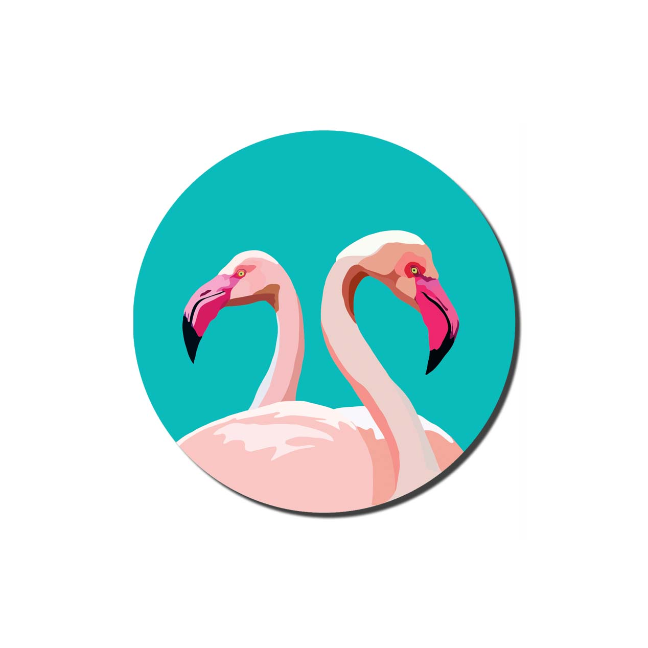 Emily Brooks Coasters Flamingo Sparkle Gift