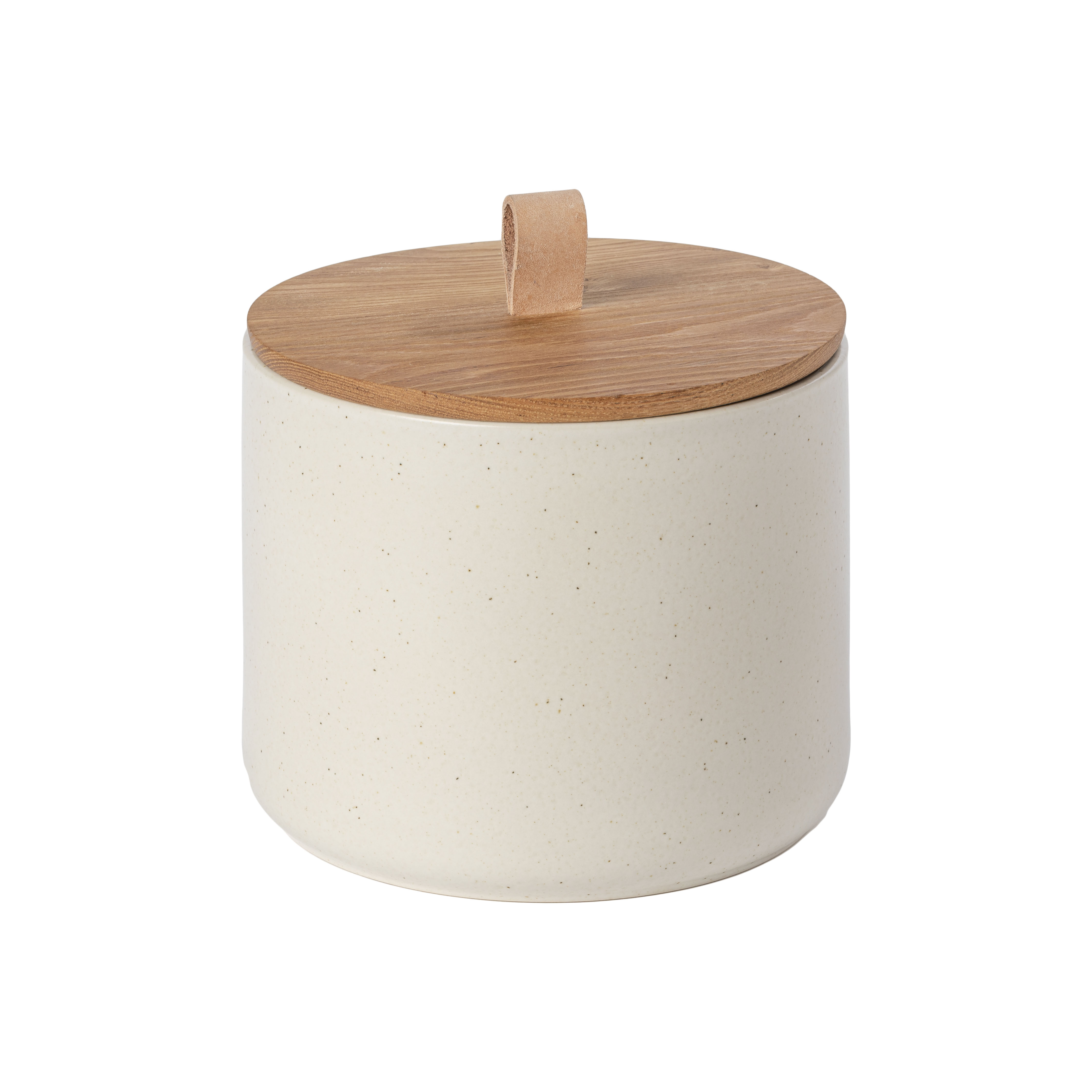 Pacifica Vanilla Canister 19.8cm Oak Wood Lid Sparkle Gift
