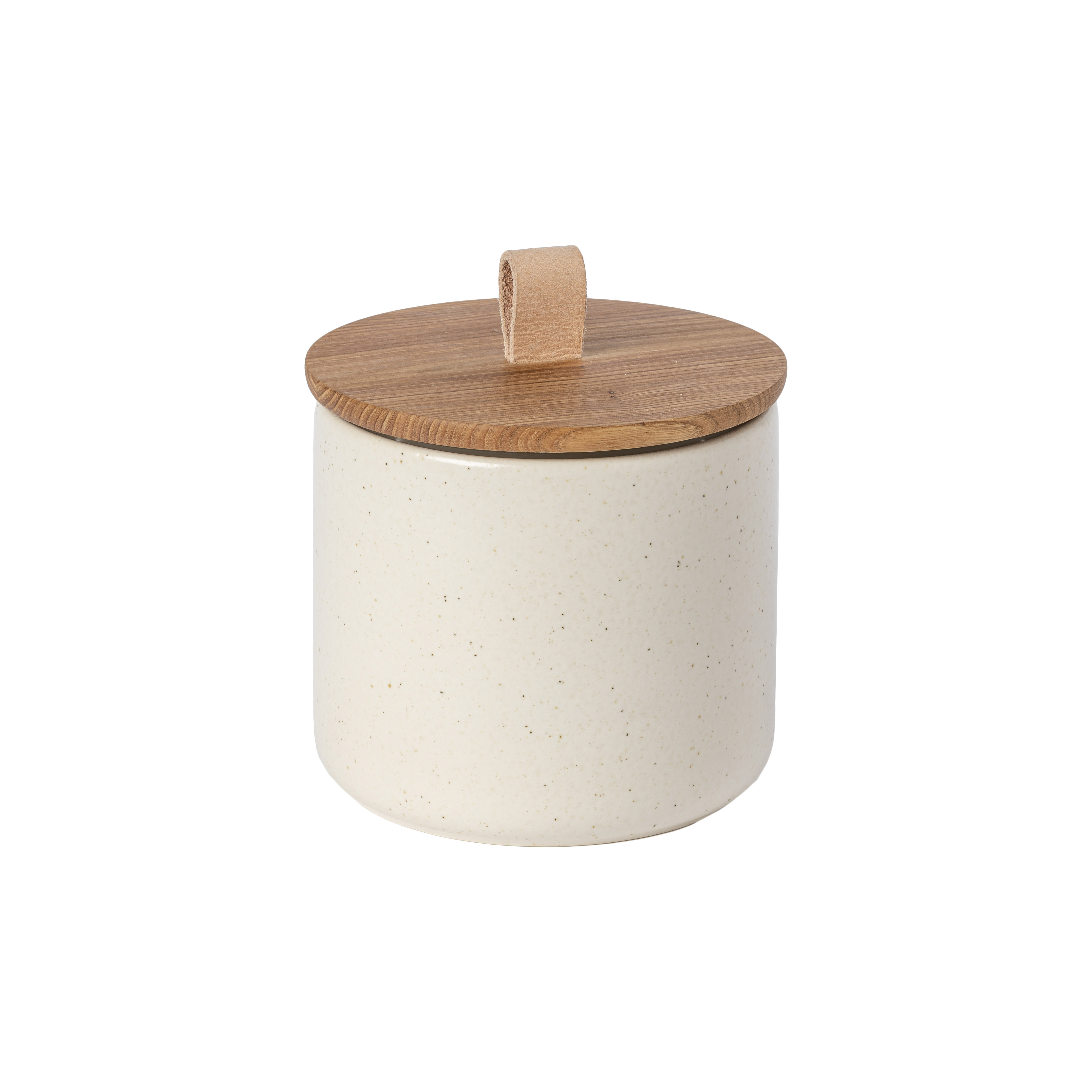 Pacifica Vanilla Canister 14.9cm Oak Wood Lid Sparkle Gift