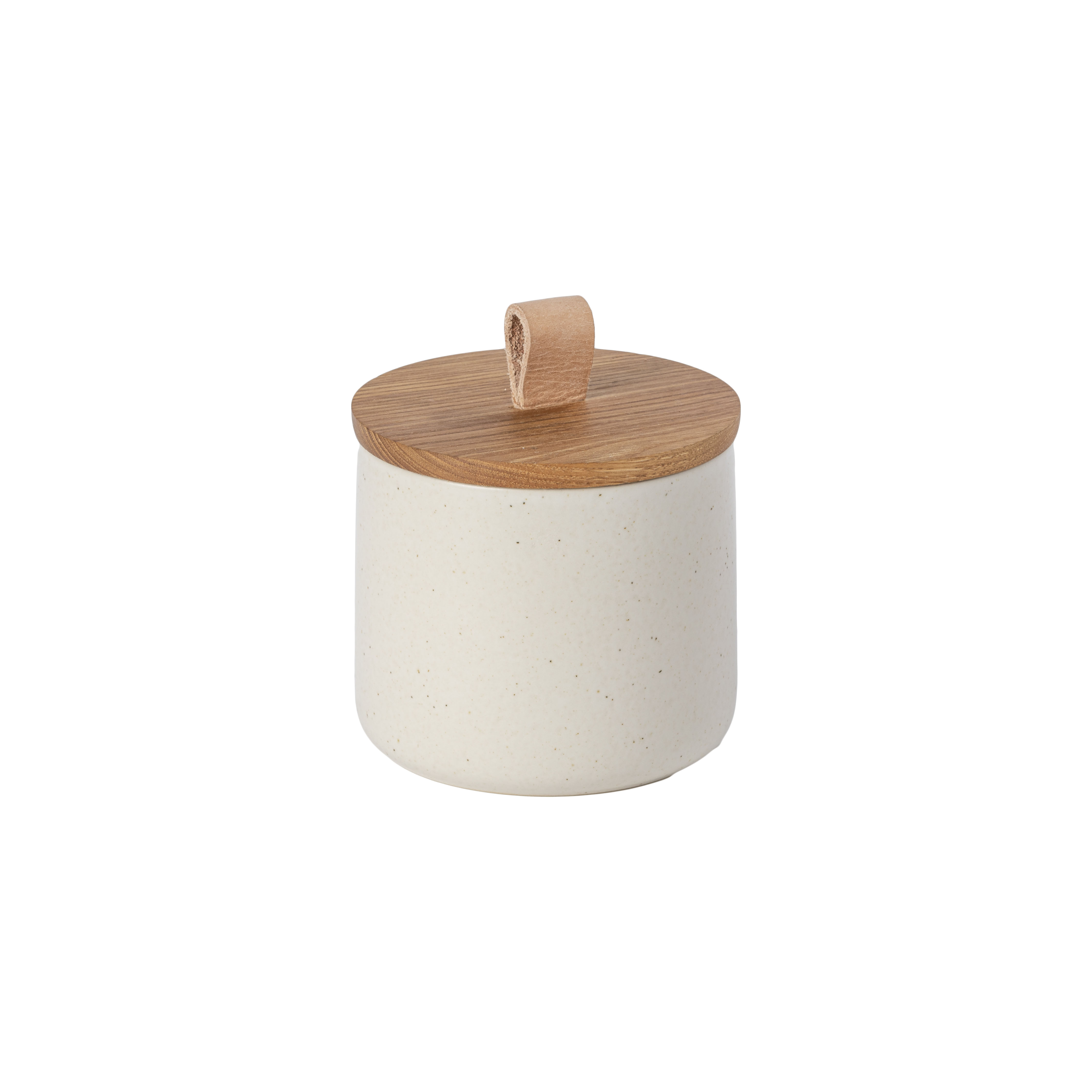 Pacifica Vanilla Canister 12.3cm Oak Wood Lid Sparkle Gift