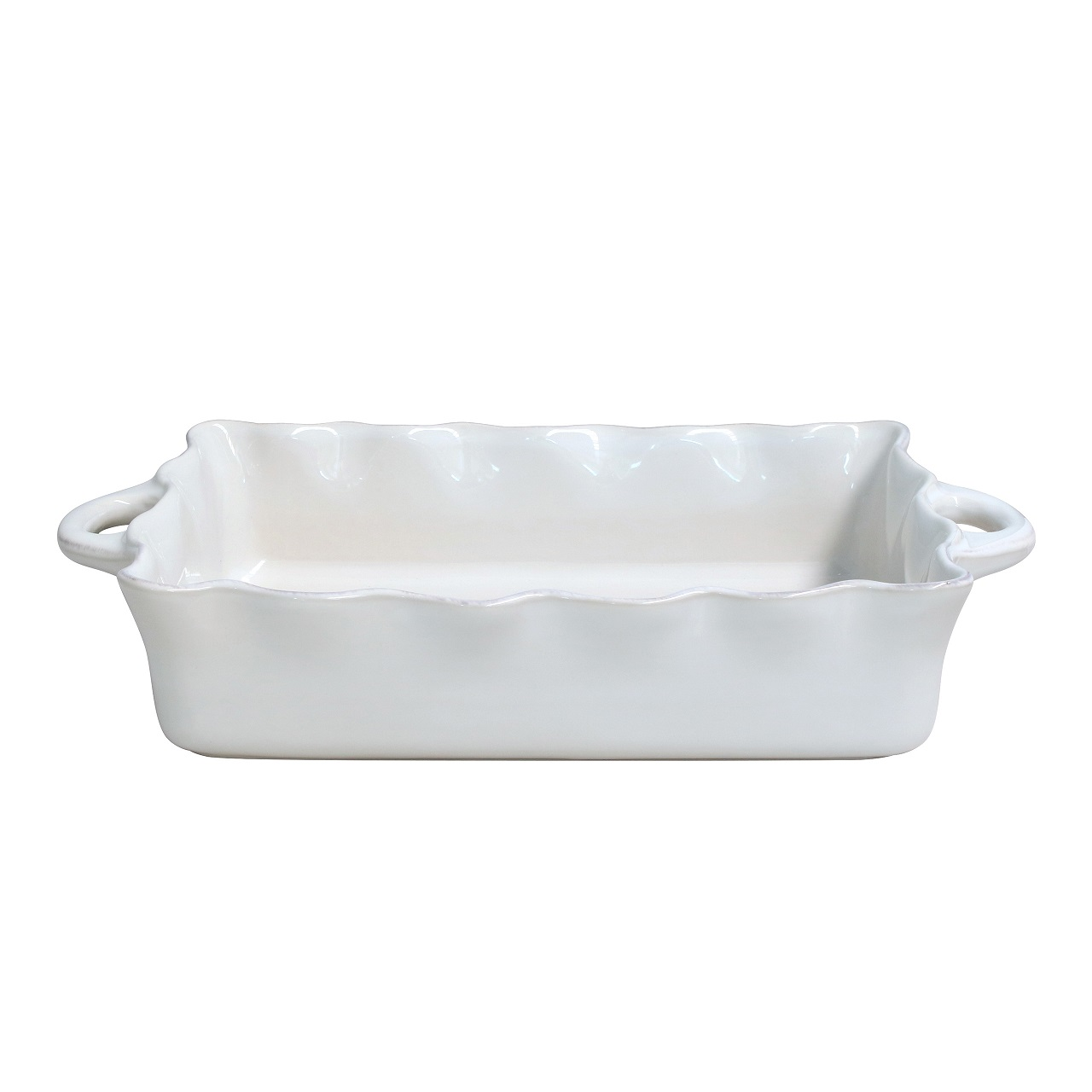 Cook & Host White Rect Baker (with Handle) 44cm Sparkle Gift