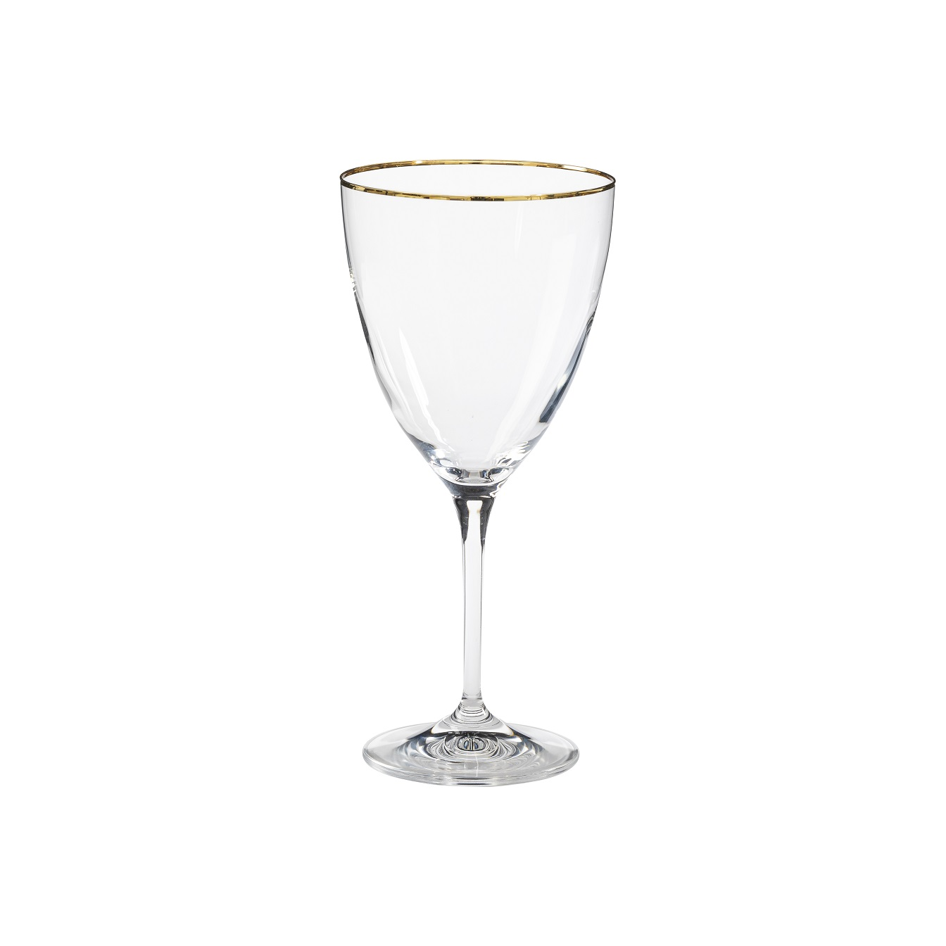 Sensa Water Glass 400ml Golden Rim Sparkle Gift